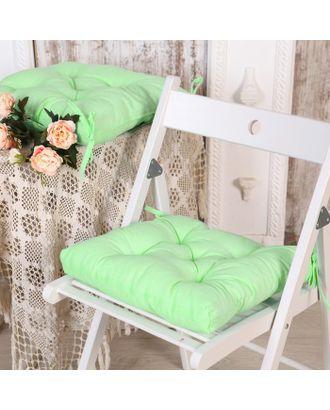 Набор подушек для стула 35х35 см 2шт, цв салатовый, бязь, холлофайбер арт. СМЛ-7355-1-СМЛ3121936