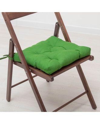 Набор подушек для стула 35х35 см 2шт, цв темно-зеленый, бязь, холлофайбер арт. СМЛ-7356-1-СМЛ3121937