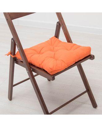 Набор подушек для стула 35х35 см 2шт, цв терракотовый, бязь, холлофайбер арт. СМЛ-27722-1-СМЛ3121938