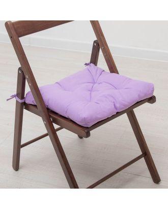 Набор подушек для стула 35х35 см 2шт, цв фиолетовый, бязь, холлофайбер арт. СМЛ-26070-1-СМЛ3121939