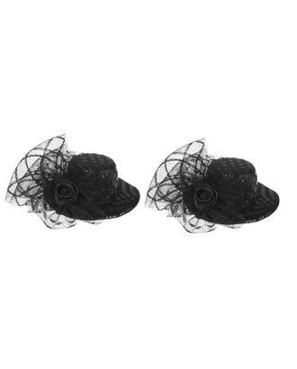 """Карнавальный зажим """"Шляпка"""", цвет чёрный арт. СМЛ-7411-1-СМЛ3154447"""