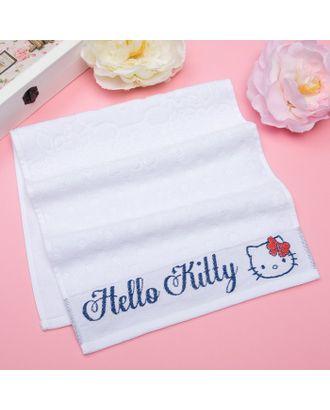 Полотенце детское Hello Kitty 70х130 см, цвет белый 100% хлопок, 400 г/м² арт. СМЛ-21140-1-СМЛ3161346