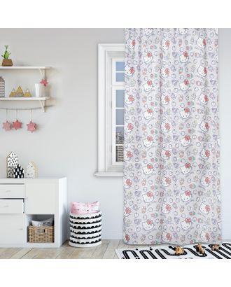 Штора Hello Kitty 150х270 - 1 шт., цвет серый, сатен арт. СМЛ-7429-1-СМЛ3161351