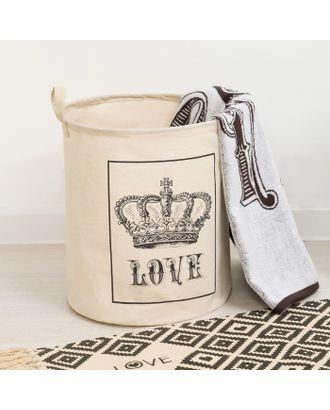 "Корзинка текстильная ""Love"" 35 х 40 см арт. СМЛ-7468-1-СМЛ3163755"