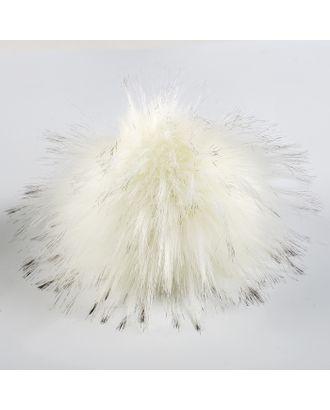 Помпон искусственный мех песец 14см (джинса) арт. СМЛ-21212-2-СМЛ3189871