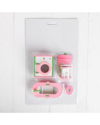 Мебель для кукол «Ванная со стиральной машинкой» арт. СМЛ-8025-1-СМЛ3223346