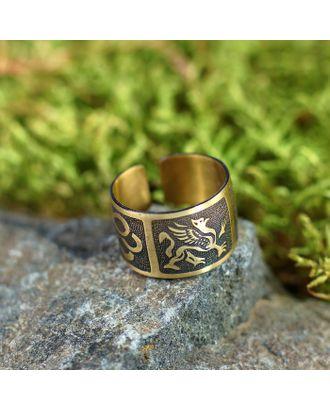 """Перстень """"Грифон"""", латунь, D=17-23 мм арт. СМЛ-22229-1-СМЛ3233170"""
