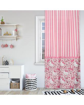 Штора Hello Kitty 150х270-1шт., цвет розовый , сатен арт. СМЛ-8149-1-СМЛ3236627