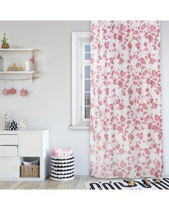 Комплект штор Hello Kitty 150х270 см - 2 шт., цвет розовый, вуаль арт. СМЛ-8150-1-СМЛ3236628