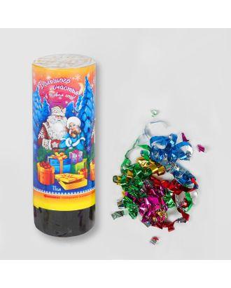 Хлопушка пружинная «Большого Счастья!», 11 см, конфетти, фольга-серпантин арт. СМЛ-48783-1-СМЛ0000324617