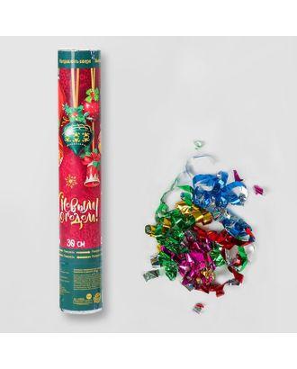 Хлопушка пневматическая «С Новым Годом», игрушки, фольга-серпантин, 30 см арт. СМЛ-58894-1-СМЛ0003249050