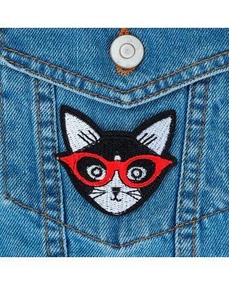 Термоаппликация «Кот в очках» р.6х6 см арт. СМЛ-8474-1-СМЛ3255874