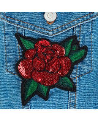 Термоаппликация «Роза» р.11х12 см арт. СМЛ-8497-1-СМЛ3255907