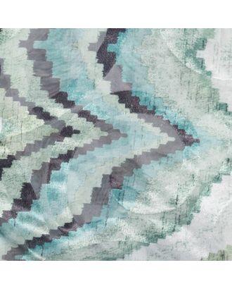 """Штора тюлевая сетка с бархатом """"Этель"""" Памир 170х250 см, зелёный,100% п/э арт. СМЛ-20962-2-СМЛ0003277312"""