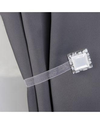 Подхват для штор «Квадрат», 3,5 × 3,5 см, цвет белый арт. СМЛ-29757-1-СМЛ0328265