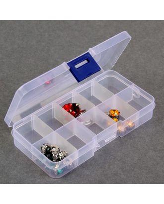 Контейнер для бисера, со съемными ячейками, 8 отделений, 10,5х6,7х2,2 см арт. СМЛ-23259-2-СМЛ3289150