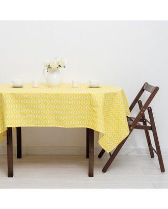 Скатерть «Этель» Серпента жёлтый 145х180 рогожка 160 г/м², 100% хлопок арт. СМЛ-21183-1-СМЛ3289391