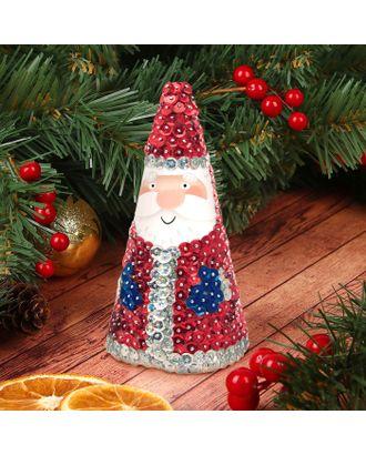 """Новогодняя игрушка пайетками """"Дед Мороз""""+3 цвета пайеток арт. СМЛ-8795-1-СМЛ3293977"""