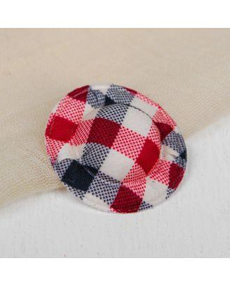 Шляпа для кукол, набор 10 шт, цв.красно-черная клетка арт. СМЛ-8802-1-СМЛ3296393