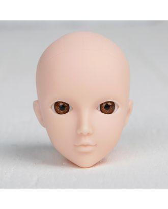 Голова для изготовления куклы, цвет глаз карий арт. СМЛ-8825-1-СМЛ3296528