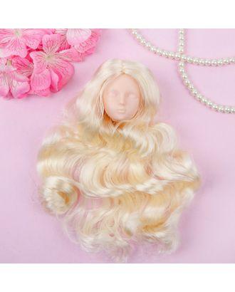 """Голова для изготовления куклы, волосы """"Кудри"""" блондинка арт. СМЛ-8826-1-СМЛ3296530"""