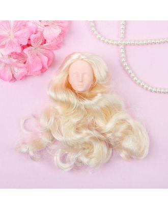 """Голова для изготовления куклы, волосы """"Завитки"""" блондинка арт. СМЛ-8827-1-СМЛ3296531"""
