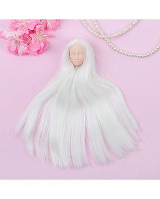 """Голова для изготовления куклы, волосы светятся в темноте """"Прямые"""" блондинка арт. СМЛ-8830-1-СМЛ3296534"""