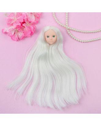 """Голова для изготовления куклы, волосы """"Прямые"""" блондинка, цвет глаз зеленый арт. СМЛ-8833-1-СМЛ3296537"""