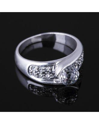 """Кольцо """"Росинка"""", размер 17, цвет белый в черненом серебре арт. СМЛ-19694-1-СМЛ3296729"""