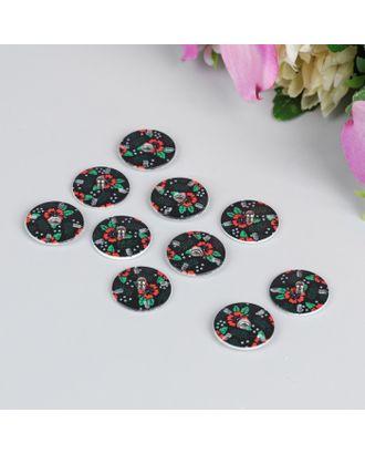 Кнопки «Маки» д.1,8см арт. СМЛ-9041-1-СМЛ3312371
