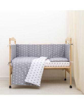 Борт в кроватку «Ноченька», чехлы съёмные, цвет серый арт. СМЛ-21881-1-СМЛ3332928