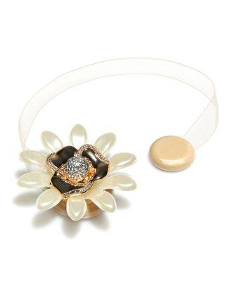 Подхват для штор «Цветок ромашка», d = 6 см, цвет золотой/кремовый арт. СМЛ-9294-1-СМЛ3342510