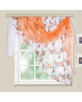 Комплект штор для кухни «Иллюзия», 300х150 см, цвет персиковый арт. СМЛ-22024-1-СМЛ3353854