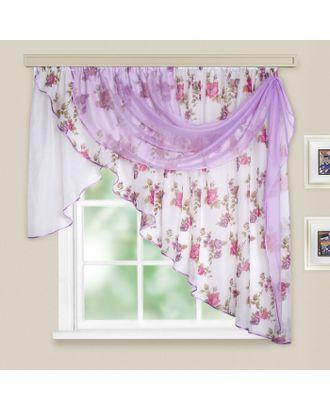 Комплект штор для кухни «Иллюзия», 300х150 см, цвет темно-розовый арт. СМЛ-22893-1-СМЛ3353856