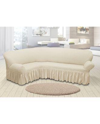 Чехол для мягкой мебели угловой диван 3-х местный 6001, трикотаж, 100%пэ, упаковка микс арт. СМЛ-26181-1-СМЛ3355609