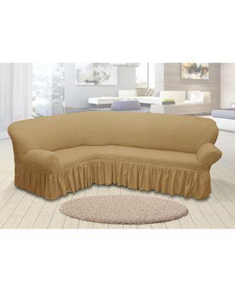 Чехол для мягкой мебели угловой диван 3-х местный 6083, трикотаж, 100%пэ, упаковка микс арт. СМЛ-26182-1-СМЛ3355611