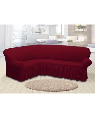 Чехол для мягкой мебели угловой диван 3-х местный 6055, трикотаж, 100%пэ, упаковка микс арт. СМЛ-26183-1-СМЛ3355612