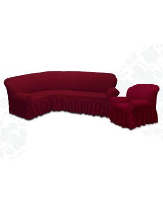 Чехол для мягкой мебели 2пред диван угловой, кресло 6055, трикотаж, 100%пэ, упаковка микс арт. СМЛ-26184-1-СМЛ3355614