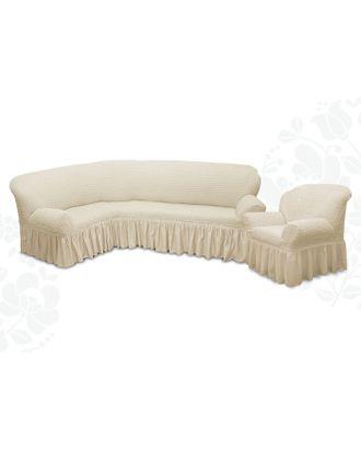 Чехол для мягкой мебели 2пред диван угловой, кресло 6001, трикотаж, 100%пэ, упаковка микс арт. СМЛ-9521-1-СМЛ3355616