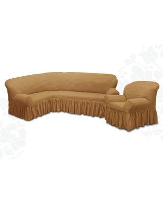 Чехол для мягкой мебели 2пред диван угловой, кресло 6083, трикот, 100%пэ, упаковка микс арт. СМЛ-9522-1-СМЛ3355617