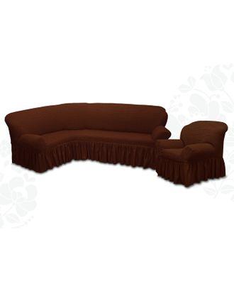 Чехол для мягкой мебели  2 пред диван угловой, кресло 6057, трикот, 100%пэ, упаковка микс арт. СМЛ-26185-1-СМЛ3355618