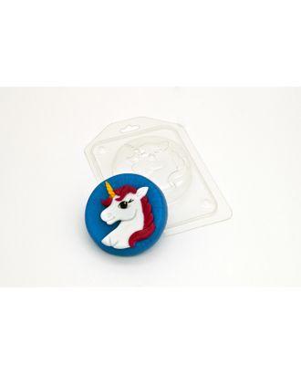 """Пластиковая форма для мыла """"Единорог на круге"""" d=7,5 см арт. СМЛ-31644-1-СМЛ3376077"""
