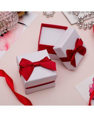 """Коробочка подарочная под браслет/часы/цепочку """"Рафаэлло"""", 21,5*4,5 (размер полезной части 21х4см), цвет бело-красный арт. СМЛ-21766-4-СМЛ3393386"""