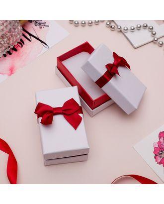 """Коробочка подарочная под браслет/часы/цепочку """"Рафаэлло"""", 21,5*4,5 (размер полезной части 21х4см), цвет бело-красный арт. СМЛ-21766-3-СМЛ3393387"""