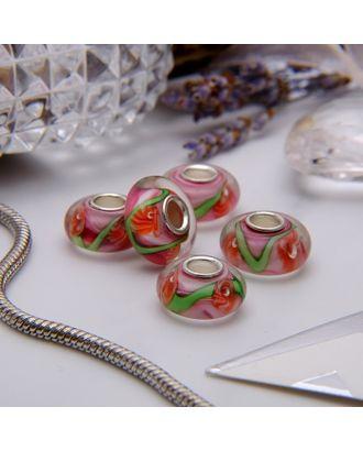 """Бусина """"Цветы"""" одуванчики, цв.бело-розовый арт. СМЛ-21746-1-СМЛ3394576"""
