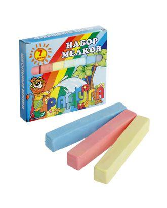 Мелки цветные «Пегас», в наборе 7 штук, квадратные арт. СМЛ-108198-1-СМЛ0003399581