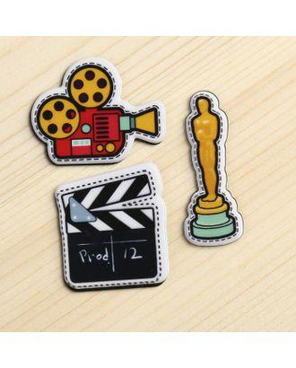"Декор пластик ""Кино"" набор 3 шт 3,5х1,3 см арт. СМЛ-10021-1-СМЛ3400140"