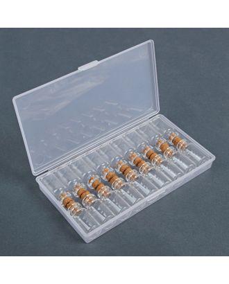 Набор баночек для хранения мелочей, d = 1,5х3 см, 18 шт арт. СМЛ-10120-1-СМЛ3409565