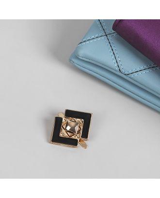 Застёжка для сумки, 4,5 × 3,5 см, цвет золотой/чёрный арт. СМЛ-10151-1-СМЛ3420478