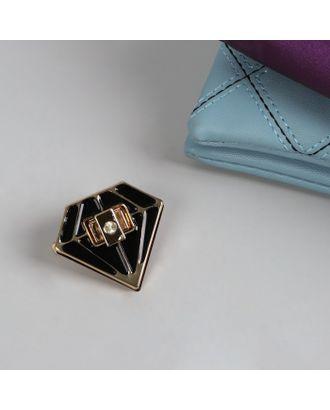 Застёжка для сумки, 4 × 4,5 см, цвет золотой/чёрный арт. СМЛ-10152-1-СМЛ3420481